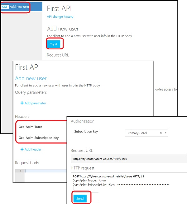 API Management Service - Testing on Developer Portal