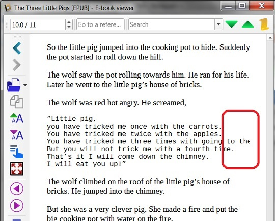 EPUB Book with pre Elements