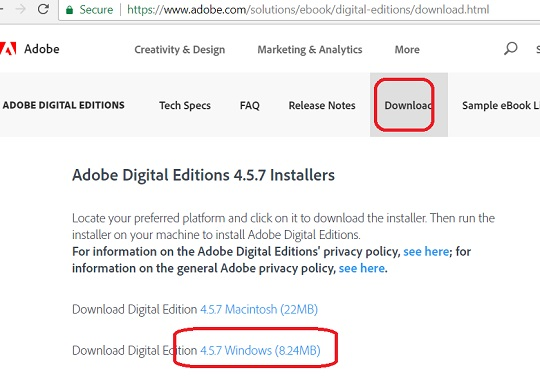 Download Adobe Digital Editions