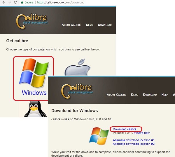 Download Calibre for Windows