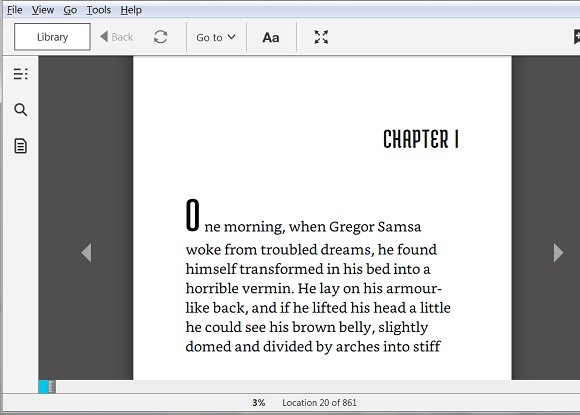 Open MOBI Book with Kindle for PC
