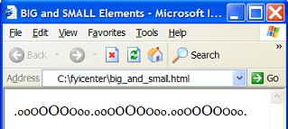 HTML big and small Elements - Change Font Sizes