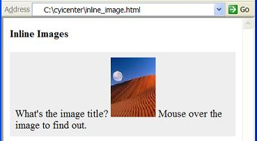 HTML img Element - Inline Images