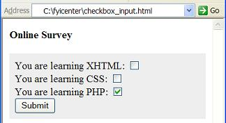 HTML-input-checkbox-Element - Multiple Choices