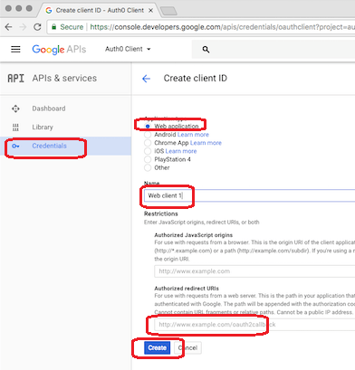 Google OpenID Connection - Application Registration