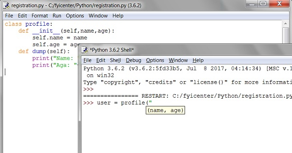 Python IDEL - Module File Window and Shell Windows