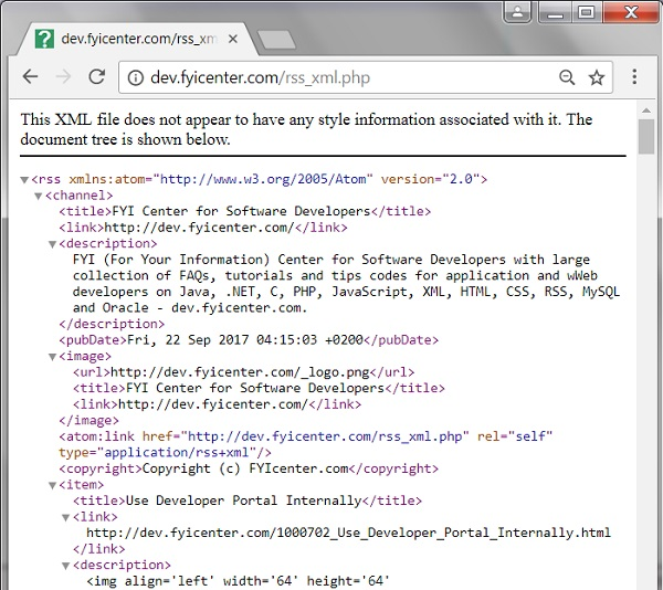 Google Chrome Showing RSS Feeds as XML